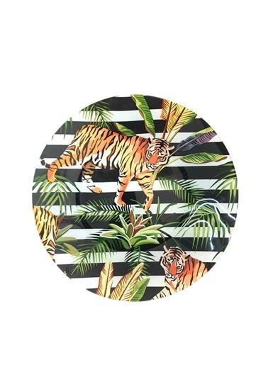 Lucky Art Jungle 6'Lı Servis Tabak 26Cm Renkli